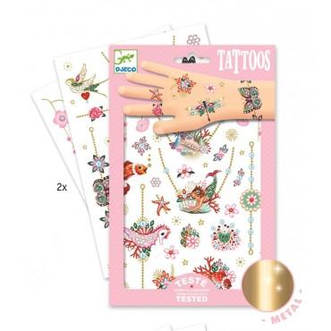 Tatuaże metaliczne Klejnoty Fiony Djeco