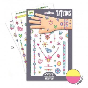 Tatuaże neonowe Klejnoty Jenny Djeco