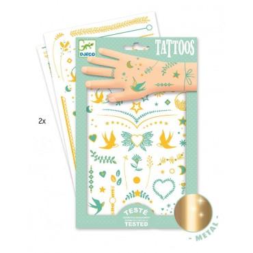 Tatuaże metaliczne Klejnoty Lily Djeco
