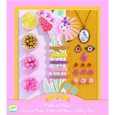 Zestaw do tworzenia biżuterii Perły i Kwiaty Djeco