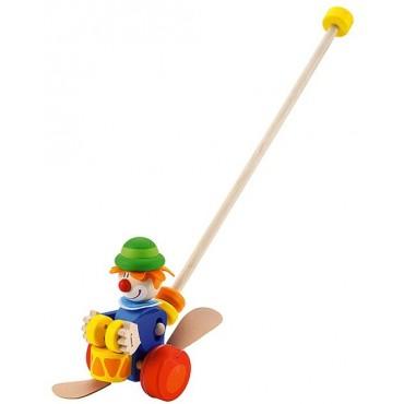 Drewniany pchacz na kiju, Niebieski Clown Sevi
