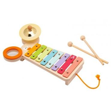 Kolorowy ksylofon z myszką Sevi
