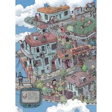 Miasto w chmurach. Miasto pod ziemią