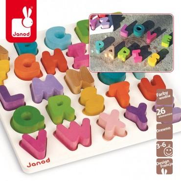Alfabet puzzle drewniane Janod