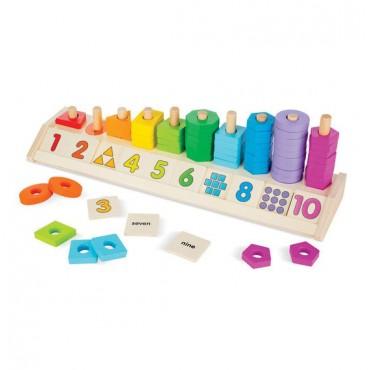 Układanka kształty kolory i liczby Melissa&Doug