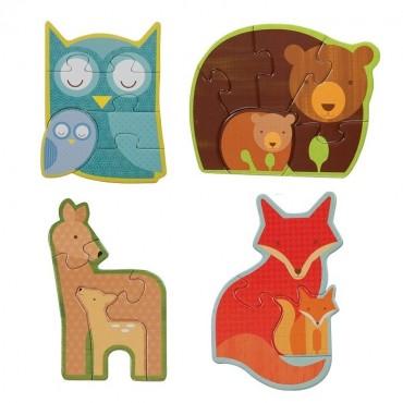 Pierwsze Puzzle Leśne Zwierzęta Petit Collage