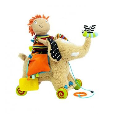 Słonik do ciągnięcia zabawka sensoryczna Dolce