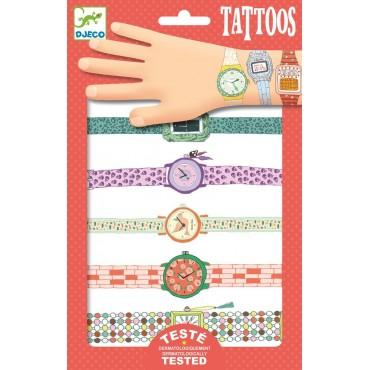 Tatuaże metaliczne Zegarki Wendy Djeco