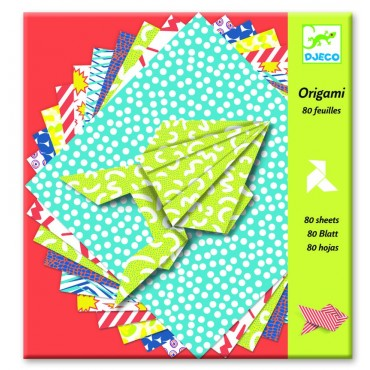 Origami Kolorowy Papier Djeco