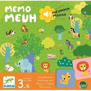 Gra planszowa Memo Meuuuh z dźwiękiem Djeco