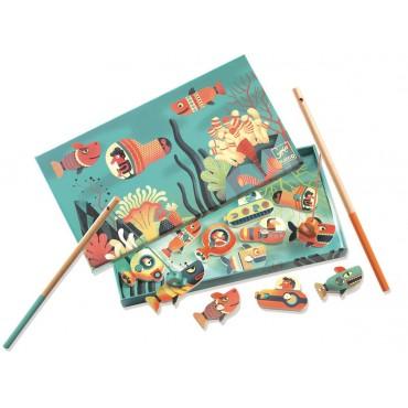 Gra zręcznościowa z magnesami Rekin Djeco
