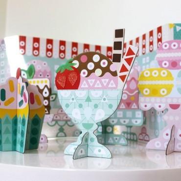 Mozaika Wyklejanka Cukiernia Petit Collage