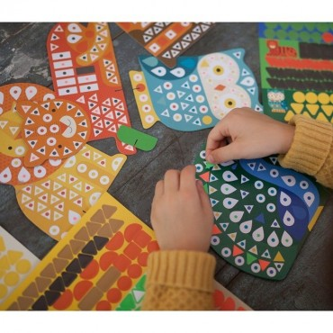 Mozaika Wyklejanka Zwierzęta Petit Collage