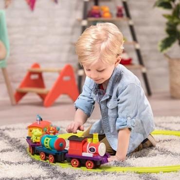 Muzyczny pociąg-kolejka z torami The Critter Express B.Toys