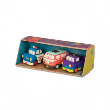 Mini Wheeee-ls! – zestaw 3 mini autek z napędem z pick-upem B.Toys