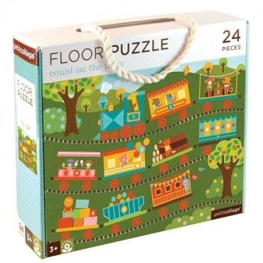 Puzzle Podłogowe Pociąg Petit Collage