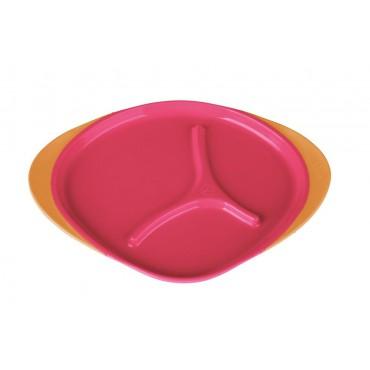 Trójdzielny talerzyk strawberry shake B.Box