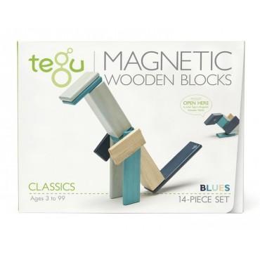 Drewniane klocki magnetyczne Classics zestaw 14szt Blues Tegu