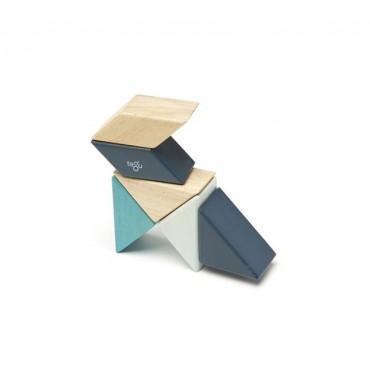 Drewniane klocki magnetyczne Pocket Pouch Prism 6szt BluesTegu