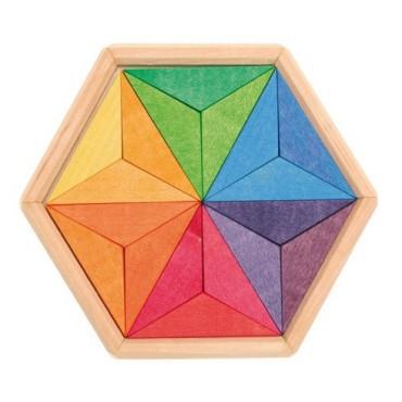 Drewniane puzzle do układania gwiazdy Grimm's