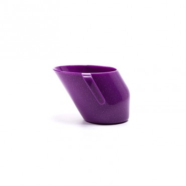 Kubeczek Doidy Cup - fiołkowy z brokatem