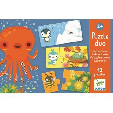 Puzzle duo Zabawa w chowanego Djeco
