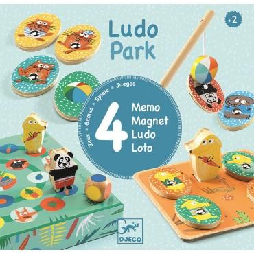 Zestaw 4 gier LudoPark Djeco
