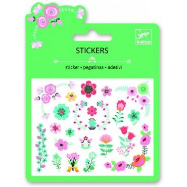 Naklejki brokatowe z kwiatowymi motywami Djeco