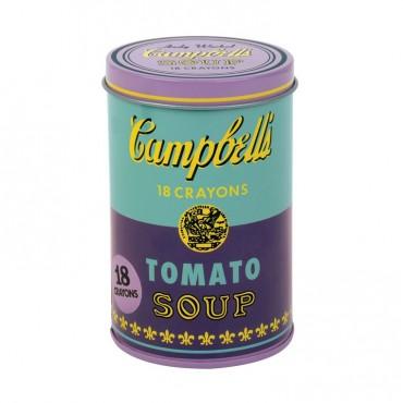 Kredki świecowe Andy Warhol 18 szt. w fioletowej puszce Mudduppy