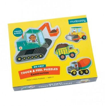 Puzzle sensoryczne Pojazdy na budowie 1+ Mudpuppy