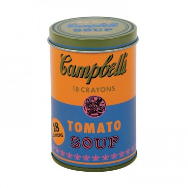 Kredki świecowe Andy Warhol 18 szt. w pomarańczowej puszce Mudpuppy