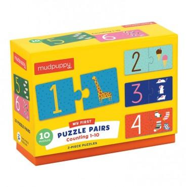 Puzzle do nauki liczenia od 1 do 10 wiek 2+ Mudpuppy