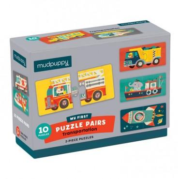 Dwuczęściowe puzzle Środki transportu 10 par 2+ Mudpuppy