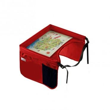 Bezpieczny stolik podróżnika Tuloko - czerwony