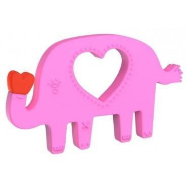 Silikonowy gryzak Szczęśliwy Słonik Manhattan Toy