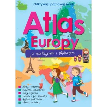 Atlas Europy z naklejkami i plakatem