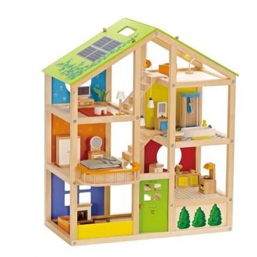 Domek dla lalek z wyposażeniem Hape