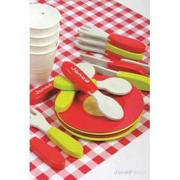 Zestaw piknikowy w walizeczce z 21 akcesoriami Janod