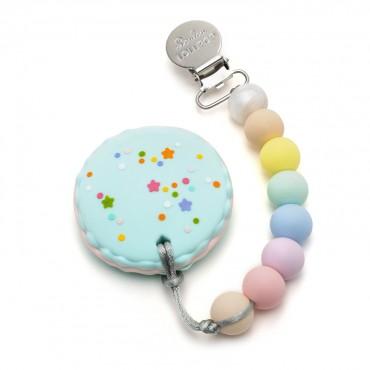 Gryzak silikonowy z zawieszką Macaron Cotton Candy Loulou LOLLIPOP