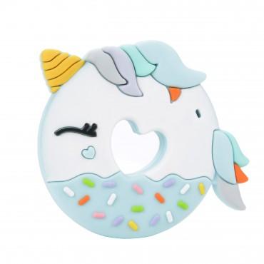 Gryzak silikonowy Blue Unicorn Donut Loulou LOLLIPOP
