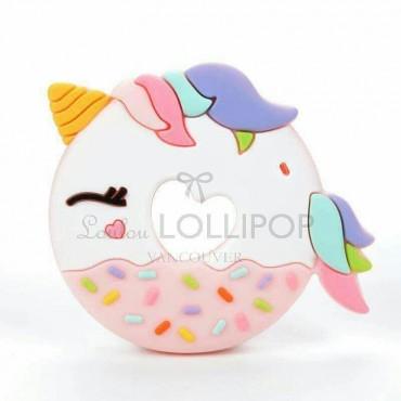 Gryzak silikonowy pink Unicorn Donut Loulou LOLLIPOP