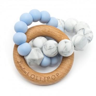 Gryzak silikonowo-drewniany Trinity Baby Blue Loulou LILLIPOP