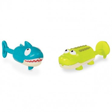 Splishin' Splash – zestaw dwóch sikawek – Rekin i Krokodyl B.Toys