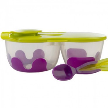 Podwójny pojemnik na żywność fioletowo-zielony B.Box