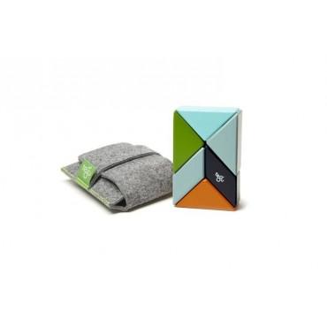 Drewniane klocki magnetyczne Pocket Pouch Prism 6szt Nelson Tegu