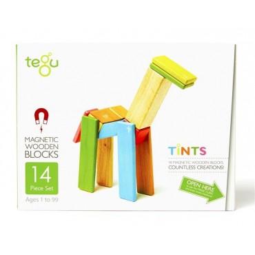 Drewniane klocki magnetyczne Classics zestaw 14szt Tints Tegu