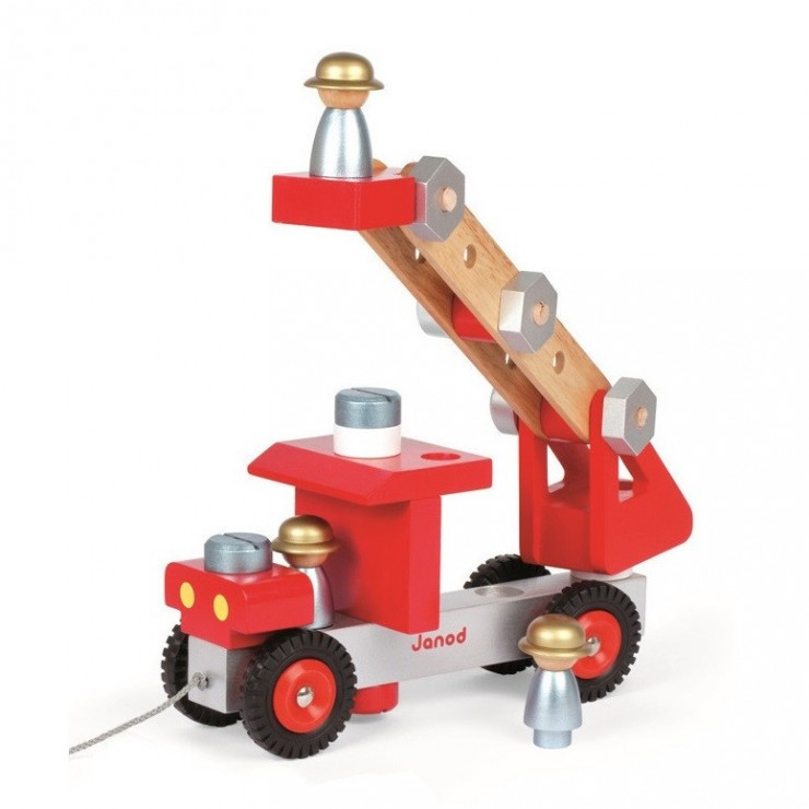 Wóz strażacki do składania drewniany duży Janod