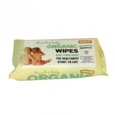 Beaming Baby Organiczne Chusteczki Nawilżane - do skóry bardzo delikatnej 72 szt.
