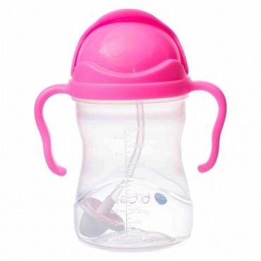 Innowacyjny bidon ze słomką - nowa wersja - różowy granat b.box