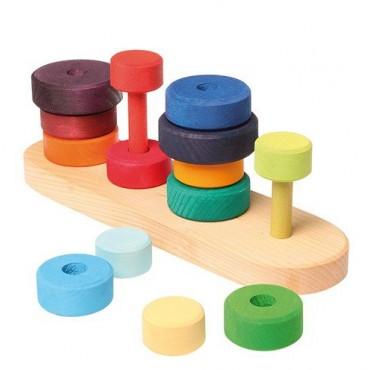 Kolorowe cztery mini wieże z okręgami 1+, Grimm's